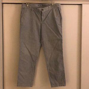 Gap blue/white striped khaki ankle pant